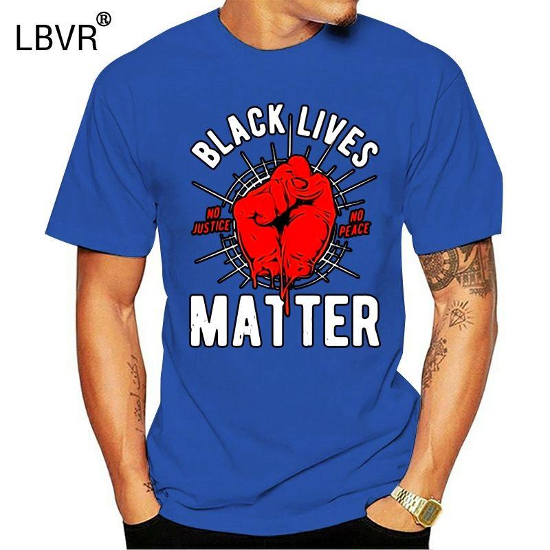 Siyah Hayat Mat Mens Siyasi Tişört Panther Karşıtı Irkçılık Barış