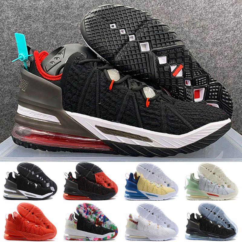 18 XVIII Gang Oreo Siyah Üniversitesi Kırmızı Beyaz Çocuk Basketbol ayakkabıları Sıcak Satış 18s Jade Erkekler Sneaker Lebron
