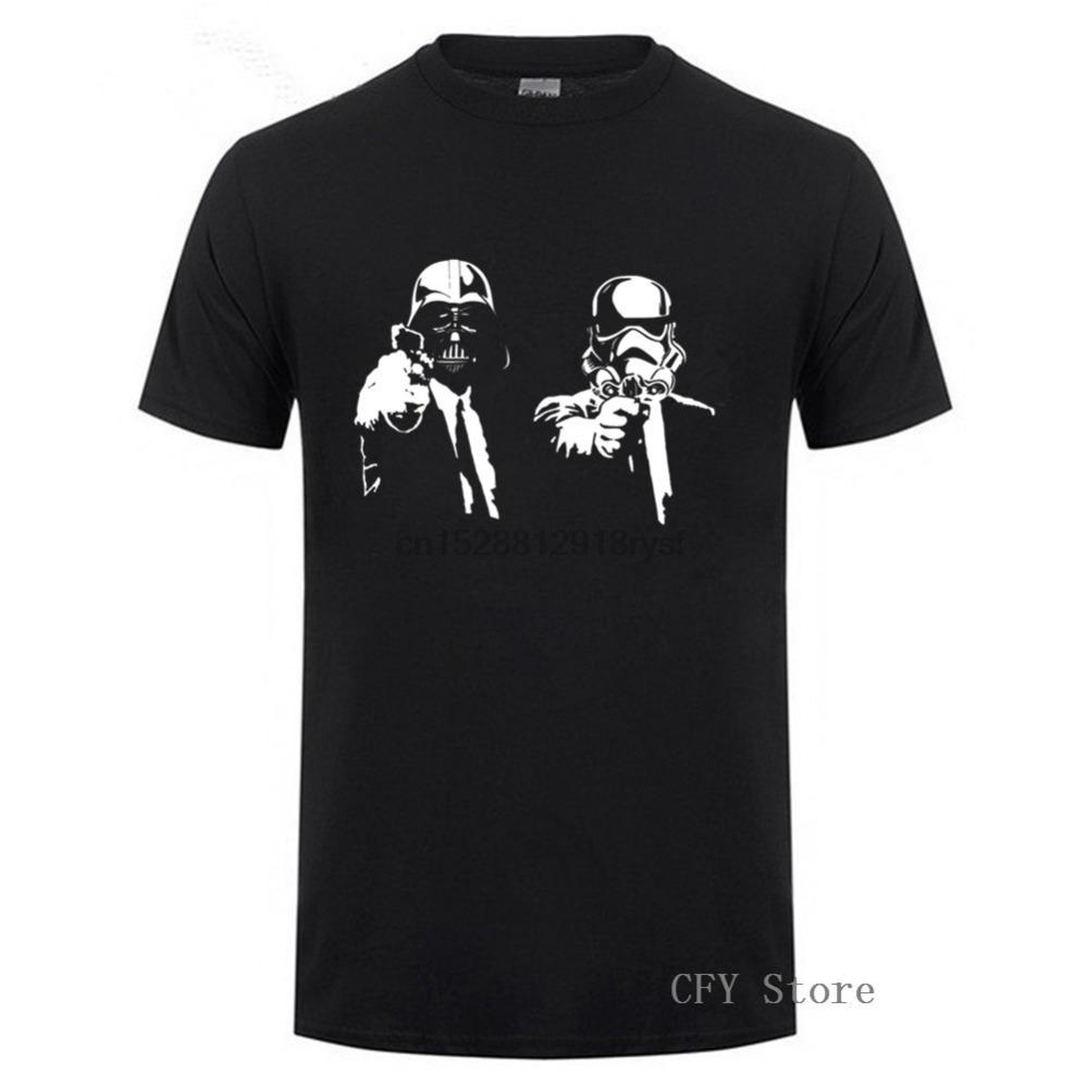 Мода Бренды Star Wars Fiction Pulp Hip Hop Мужчины футболка 2019 лето Мужчины футболки 100% хлопка с коротким рукавом Футболка