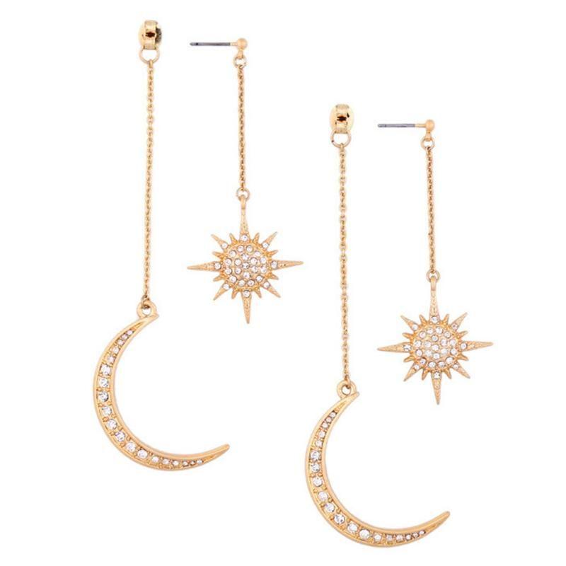 2020 New Hot Sale Sun and Celestial Earrings Retro mystical fantasy Earrings