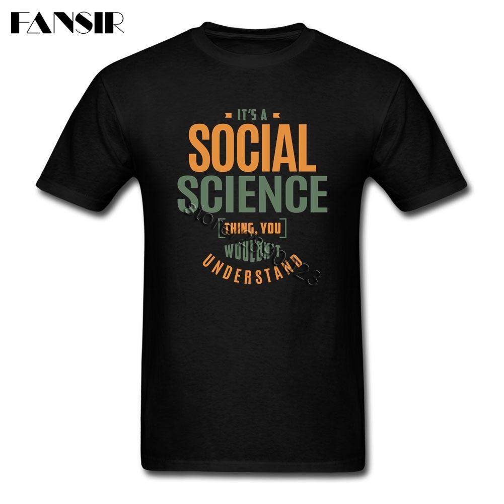 Taille sur les sciences sociales Vintage T-shirt Homme personnalisé coton à manches courtes T-shirt équipe Tops Tee