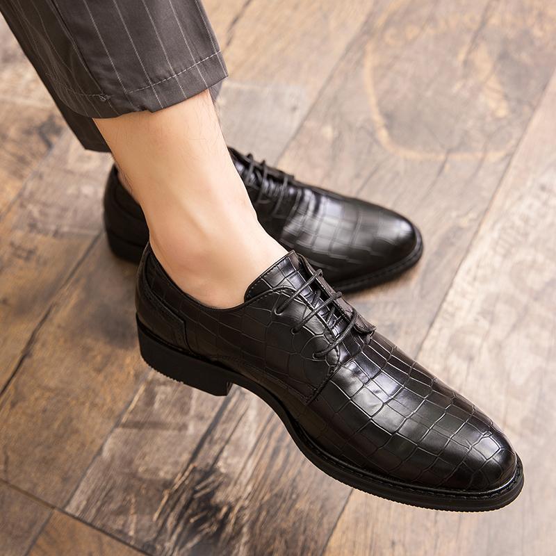 Robe chaussures crocodiler hommes oxford italien à la main vintage rétro bureau fête fête fête hommes zapatos