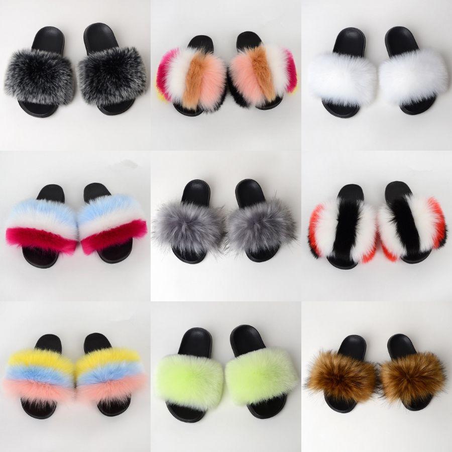 Slide Femenino de la sandalia de los zapatos de diseño original mujeres Plataforma zapatillas beige ladrillo rojo multicolor Imprimir las mujeres Sandalias C03 # 694