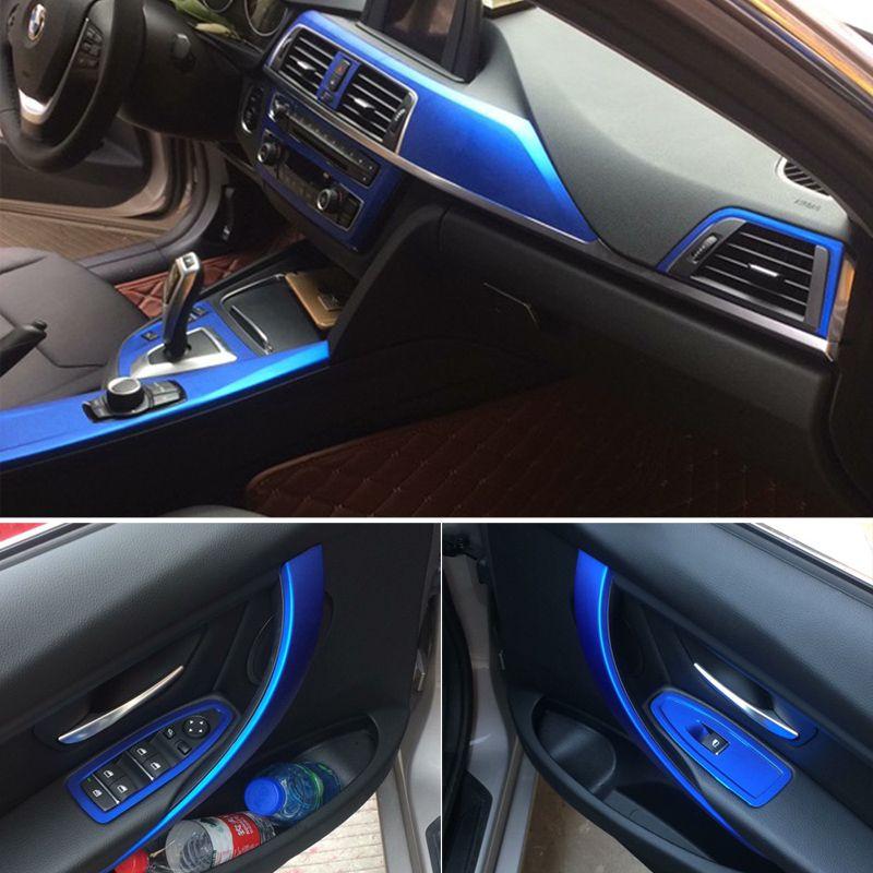 لBMW 3 سلسلة F30 F31 F32 الذاتي ملصقات ملصقات لاصق السيارات 3D 5D من ألياف الكربون الفينيل السيارات والشارات زينة السيارات التصميم