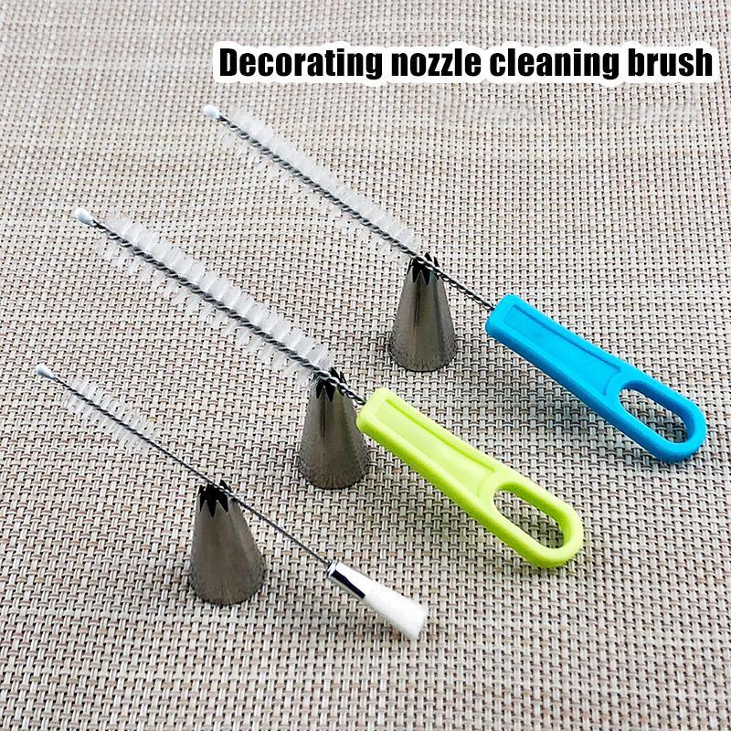 Escova de limpeza portátil para gelo Piping Bicos decoração do bolo Boca ferramenta da cozinha K888