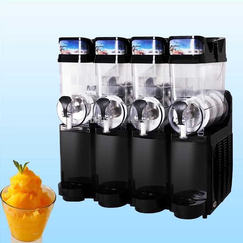 4 réservoir Machine Slush 15L glace Slusher 830W Machine de fonte de neige smoothies Smoothie commerciale machine à neige fondante