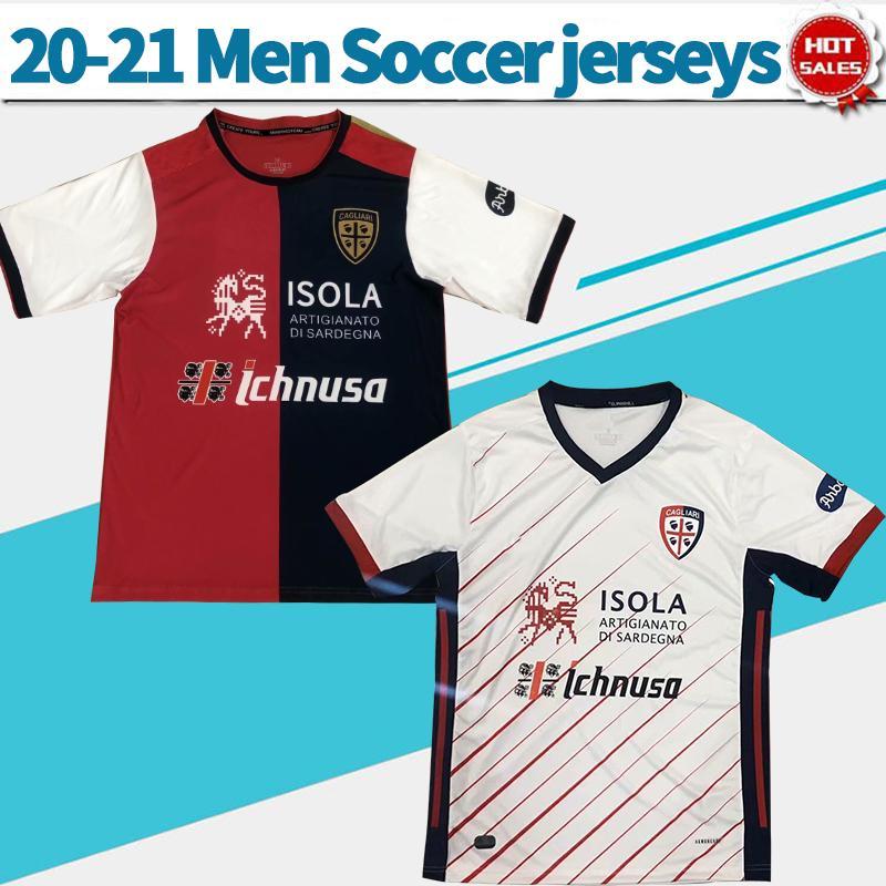 2021 Cagliari Calcio 축구 유니폼 홈 Joao Pedro Nandez Cerri 20/21 남성 축구 셔츠 사용자 지정 축구 유니폼