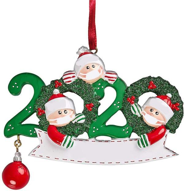 3D рождественских украшения персонализированного Survivor Family 2 3 4 5 6 7 Декорация Маска ручных промытая рождественская елка висит кулон ПВХ