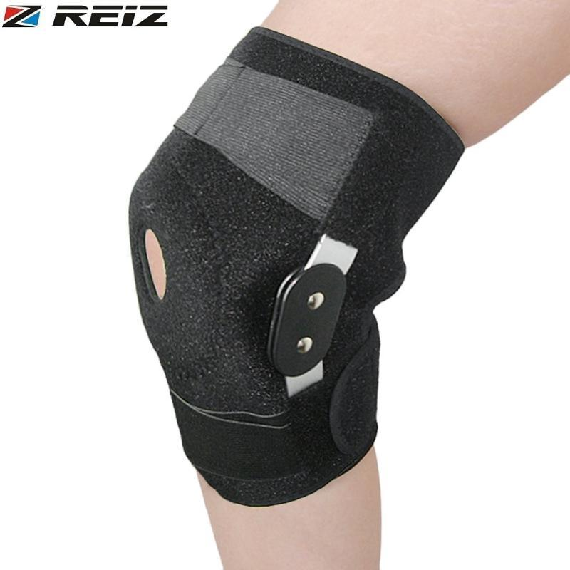 REIZ Adjustable Hinged Knee Orthosis Brace Support Ligament Sport Orthopedic Splint Sports Knee Pads Outdoor