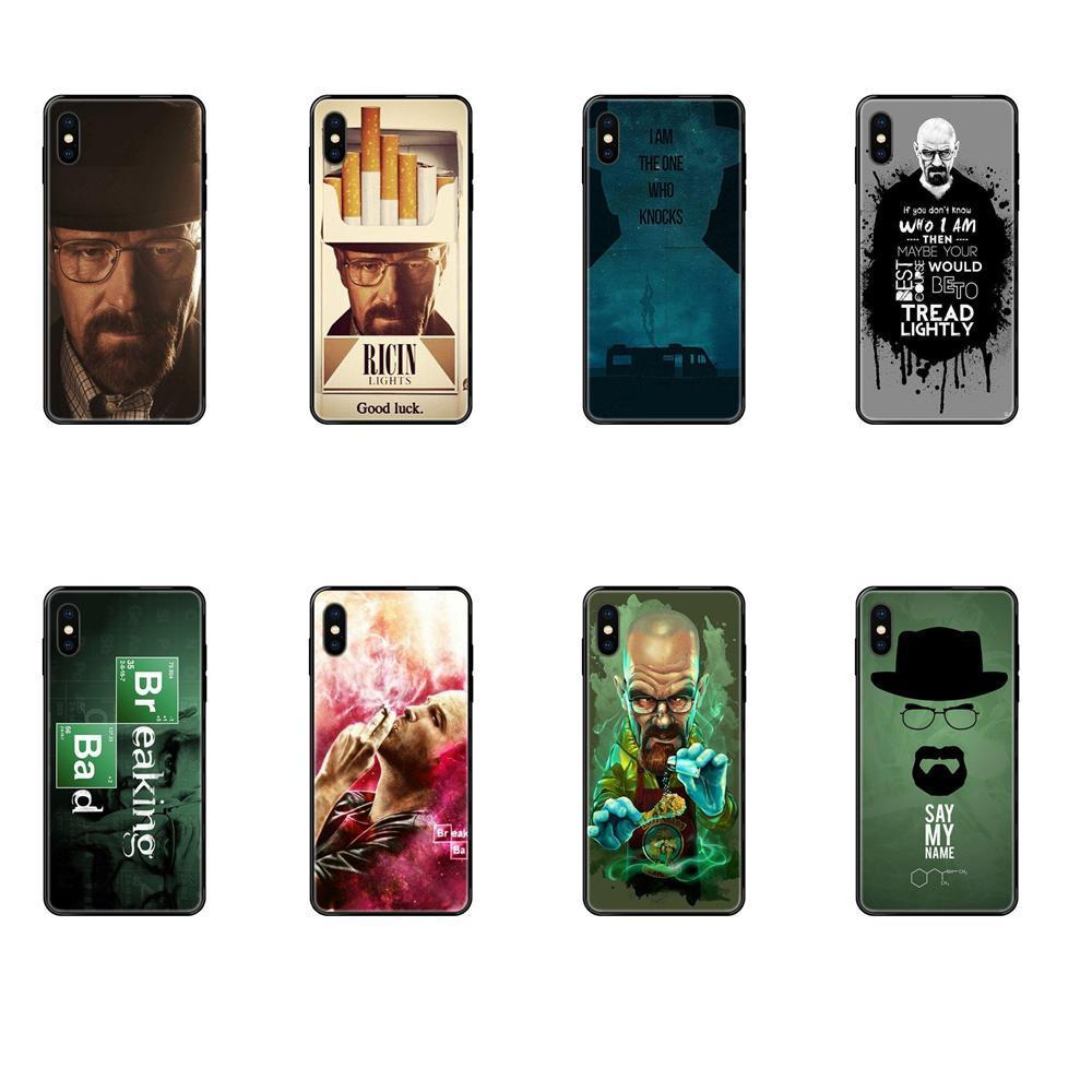Soft Screen Protector de TPU para el iPhone 11 12 XS Pro Max X 8 7 6s Plus 5 11 12 SE SE XR 2020 Breaking Bad Walter White Jesse Pinkman