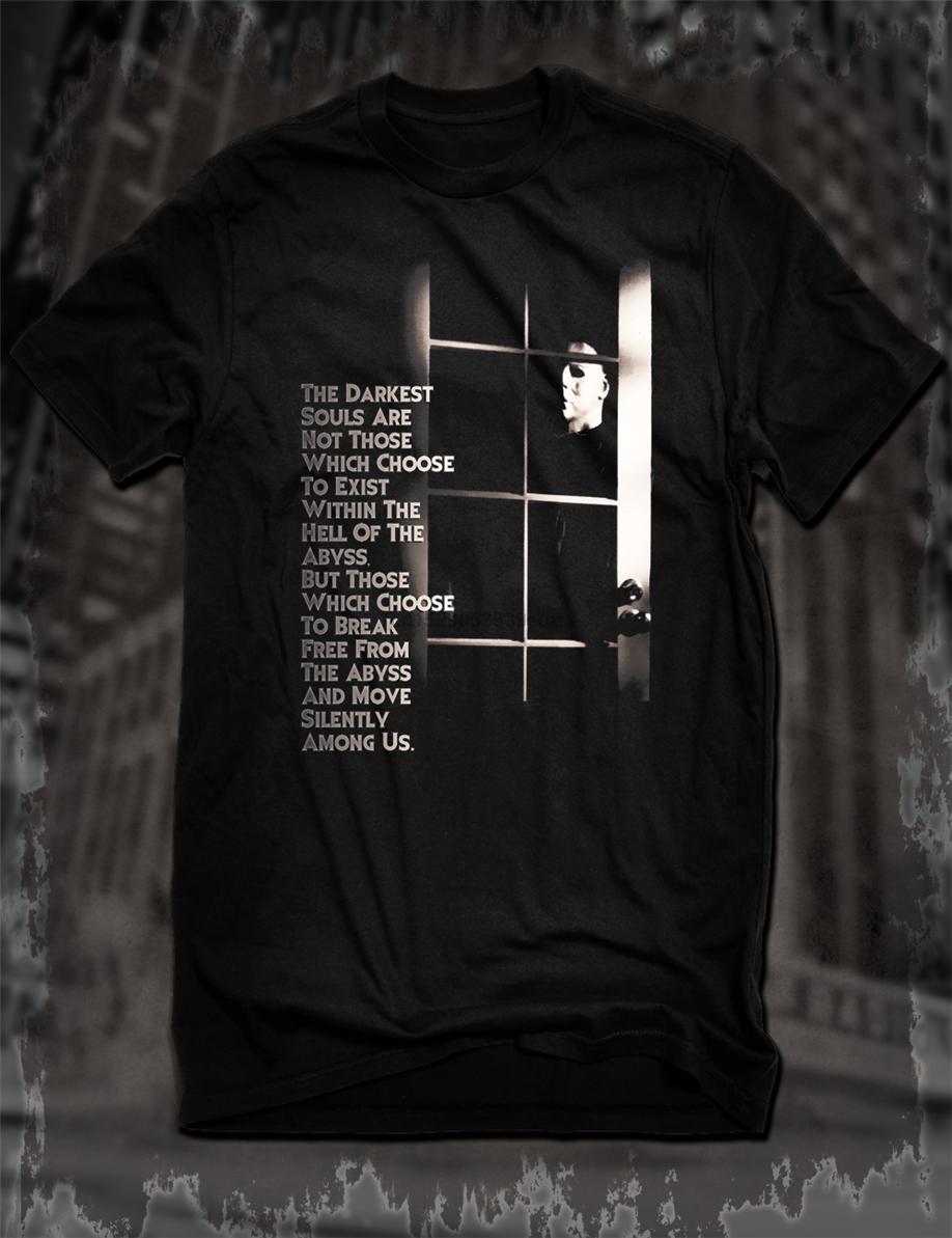 새로운 블랙 할로윈 공포 영화 T 셔츠 루미스 견적 마이클 마이어스 필름 티 캐주얼 티 셔츠 쿨