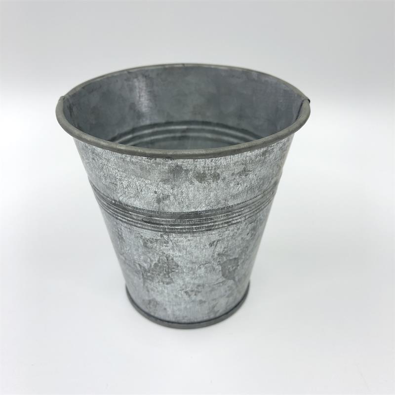 D8XH8.5CM (D3.1XH3.3inch) Les planteurs de gros pots de fleurs galvanisées de boîte en fer blanc de pot de fleurs pour soirée de mariage faveur Holder