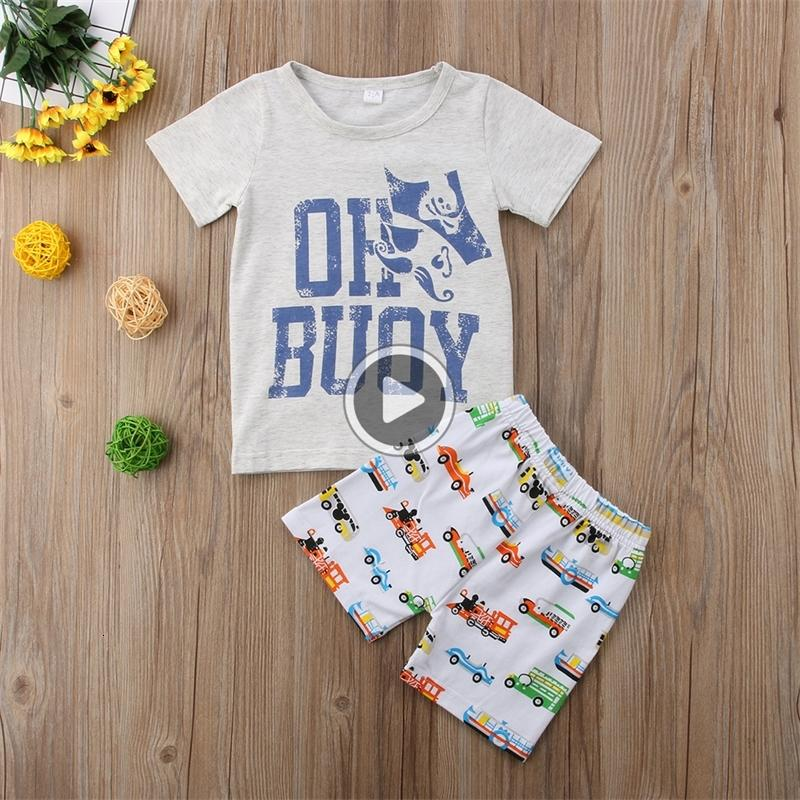 Baby kids boys clothes cartoon g pirate T-shirt+cars shorts 2pcs Set outfit clothing baby boy casl sport toddler summer boutique 1-6Y