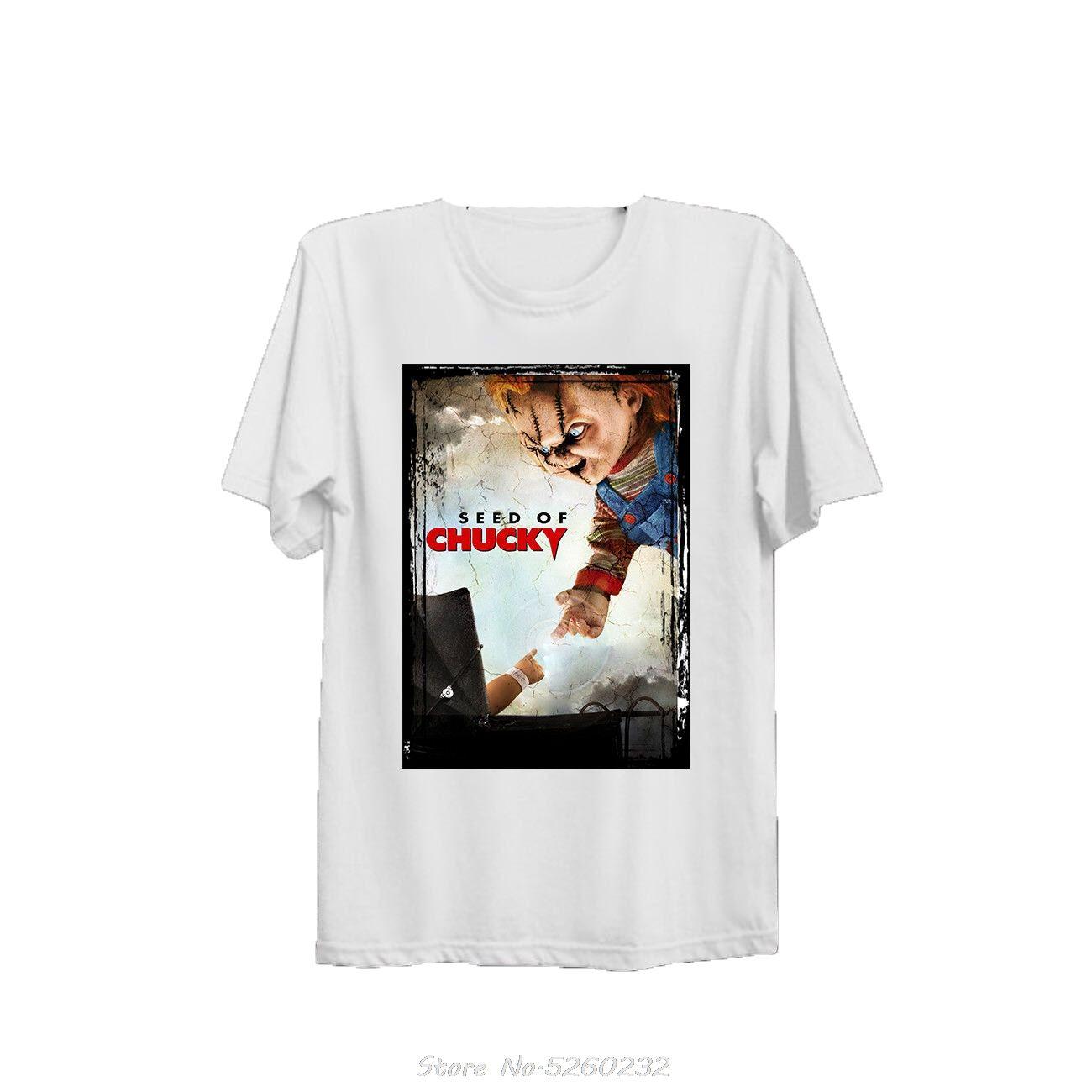 Потомство Чаки Постер фильма Прохладный Мужская майка B419 Мода O-образным вырезом верхнего качества хлопка Casual Мужчины футболки Мужчины Бесплатная доставка