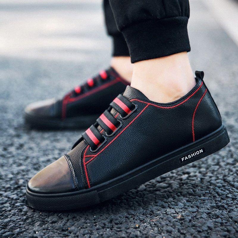OLOME 2019 Yaz Nefes Erkek Sandalet Deri loafer'lar Sigara Casual Erkek Ayakkabı Pembe Ayakkabı Kayma Vegan Ayakkabı f5zN #