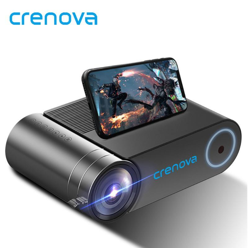 Crenova mini projetor LED Full HD 1280x720 para 1080p sem fio Sync 2800 Lumens Home Theater Video Beamer