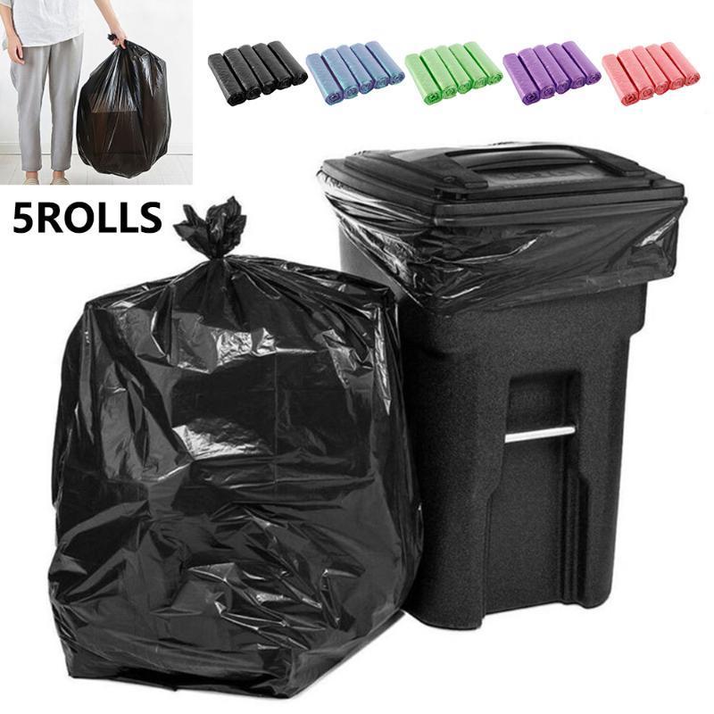 Borse spazzatura 5 rotoli 75pcs spazzatura per casa rifiuti spazzatura classificata lavagna monouso toilette cucina cucina
