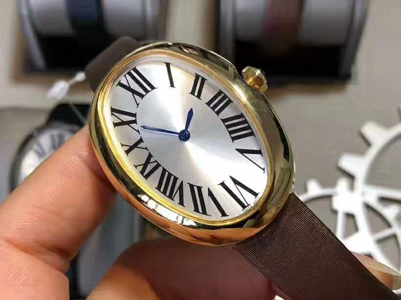 Горячие овальные Bayoireire Woman Watch 18K Gold Diamond Damies Watch роскошные женщины часы CAL.430 Автоматический механический сапфир кристалл