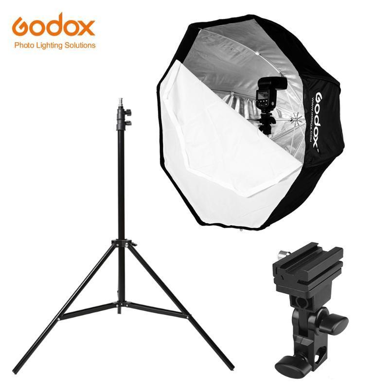 stare Godox 31.5in 80 centimetri Octagon Umbrella Softbox 200 centimetri Luce dell'ombrello Hot Shoe Staffa Kit per Speedlite