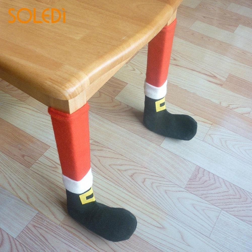 4PCS Christmas Chair Protector Table Leg Foot Socks Prevent Scraping Xmas Decorations for Home Gift Protector Sleeve Good DWQj#