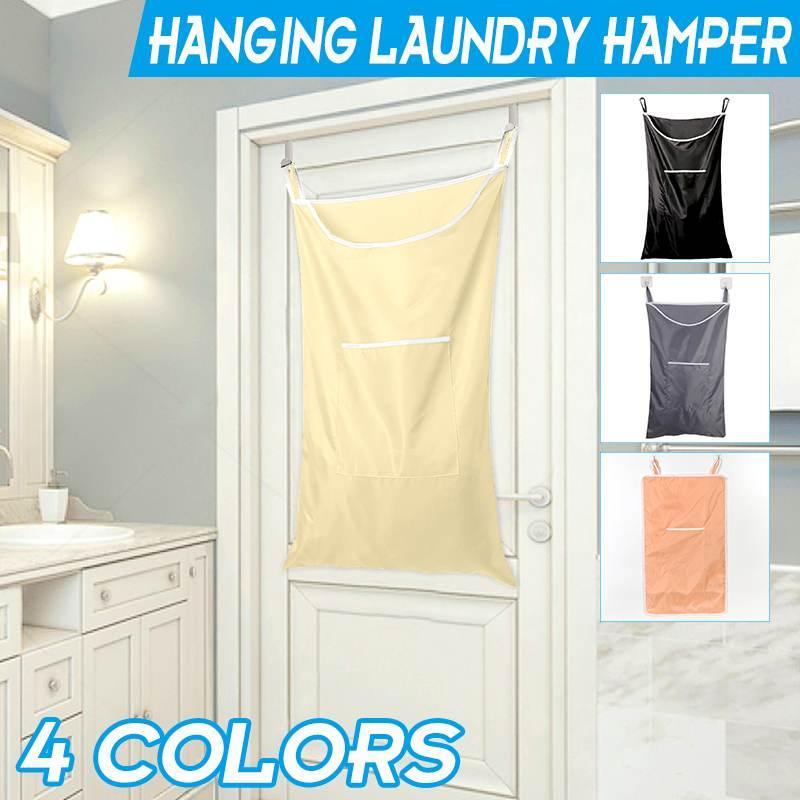 Große Kapazität Hanging Wäschekorb Badezimmer Platzsparend schmutzige Kleidung-Speicher-Beutel Wasserdichtes Oxford Cloth Faltkörbe