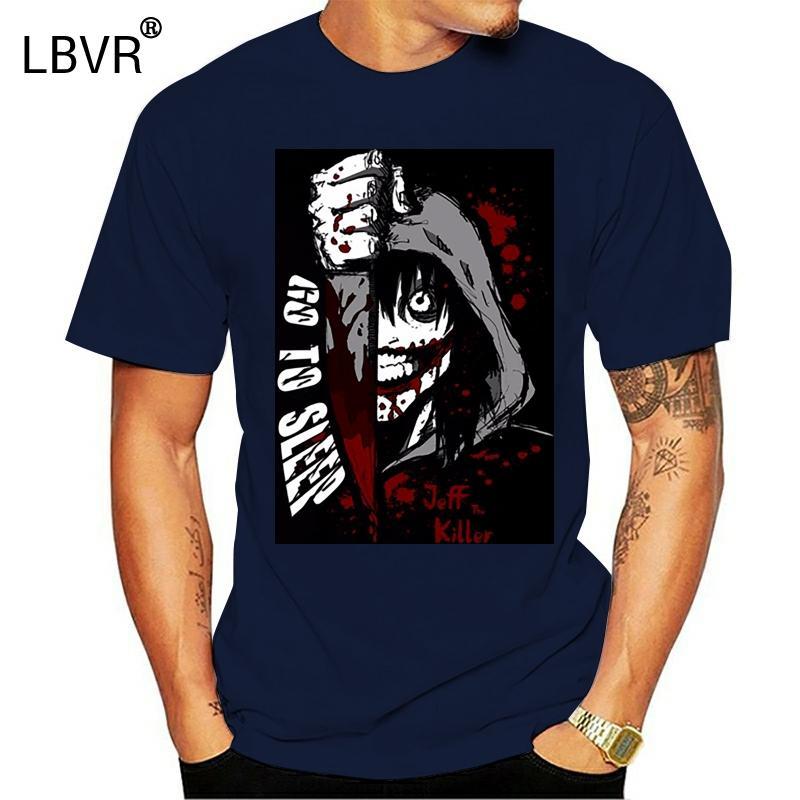 verano caliente de la venta de algodón simples de manga corta camiseta de algodón Jeff The Killer directa de las ideas de la camisa T Stockist