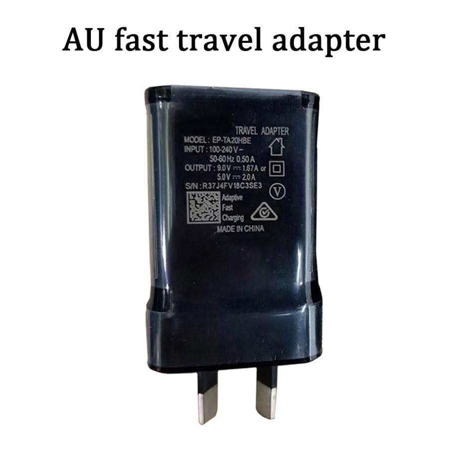Qulity mur de charge rapide AU chargeur rapide de 2A 9v1.67A de dock de charge adaptateur secteur pour Samsung S10 S8 S9 PLUS NOTE 10 HUAWEI LG