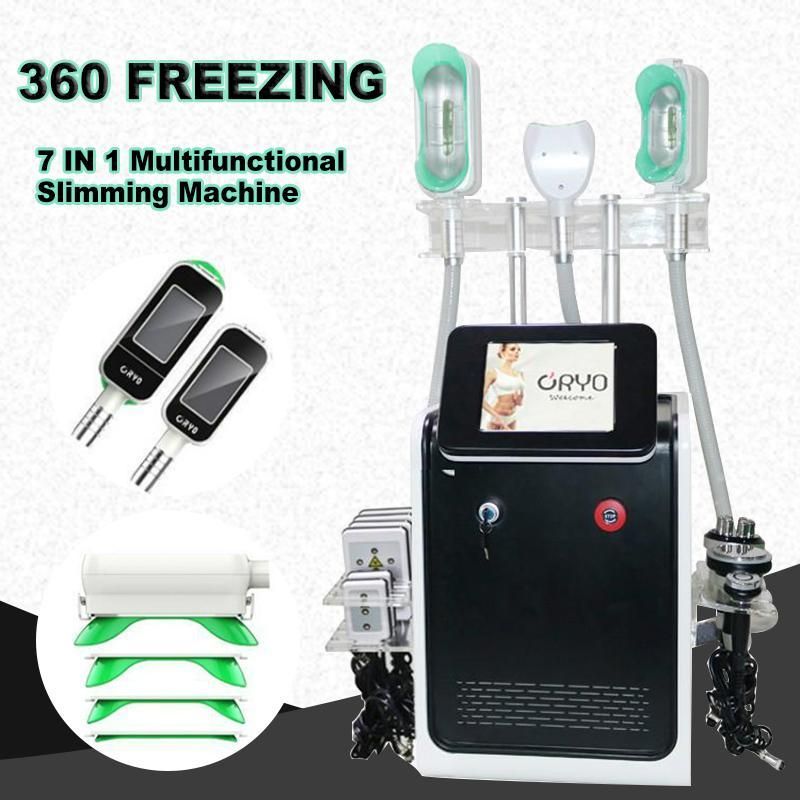 2020 Cryolipolysis жира замораживания похудение 360 крио жира замораживания машина лазерной липосакции кавитации RF тела для похудения оборудование