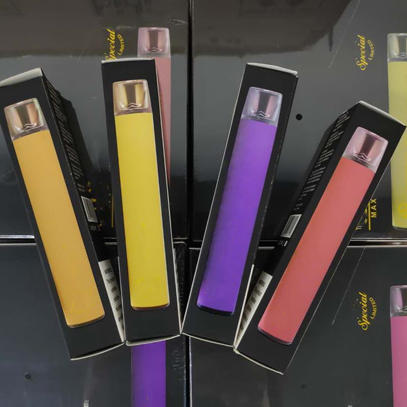 Lo nuevo soplo Max 2000 soplos desechables Vape Pod dispositivo 8 colores Fuente de la fábrica de DHL envío rápido