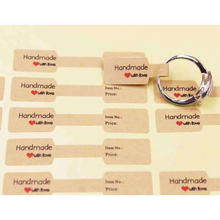 2017 Nuova Grazie piegato 300pcs adesivo anello prezzo labe prodotti di gioielleria etichetta di cartellino del prezzo di marca per lotto 6 * 1,20 centimetri