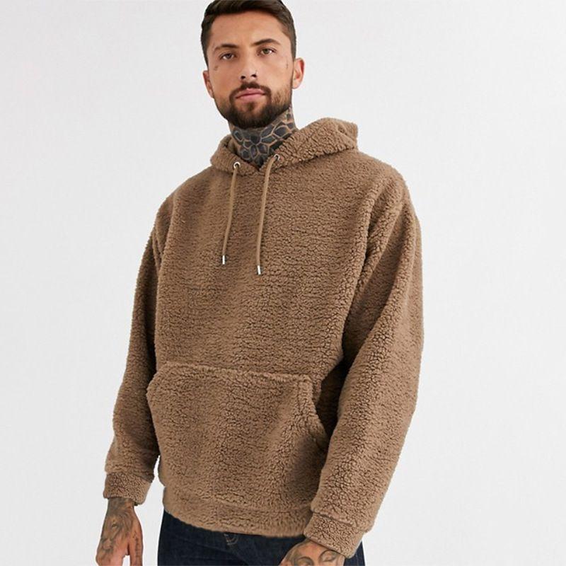Moda Juvenil Marca tridimensional remiendo del bolsillo del suéter E-Baihui 2020 nuevos hombres, sudadera de felpa informal de manga larga Top MZH396