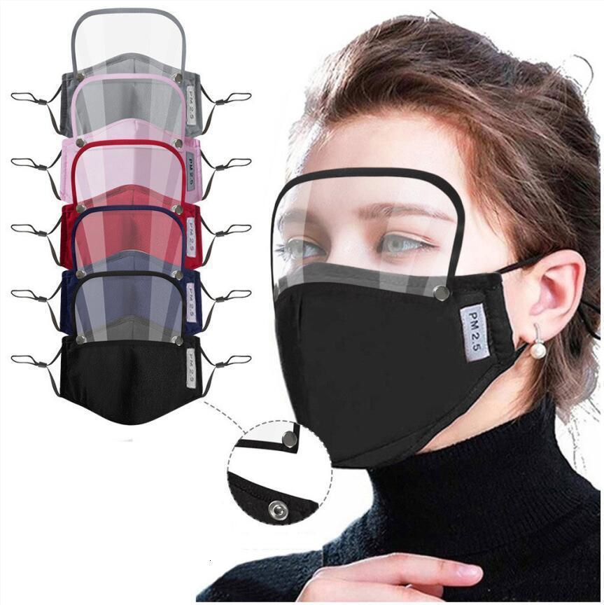 Amovible 2 yeux dans 1 Masques Bouclier adulte enfants Valve facial Huile de protection Masque avec filtre 2pcs Pad Cca12326