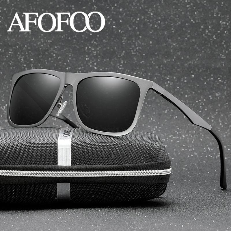Uv400 aluminium magnesium gafas polarisierte männliche sonnenbrille marke brille fahrer sonne afofoo hd qualität hohe männer schattierungen brille männer ciute