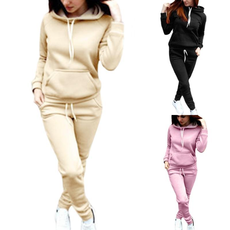 Women Tracksuit Hoodies 2 Piece Set Sweatshirt and Pants Women Sport Suit Spring And Autumn Sportswear