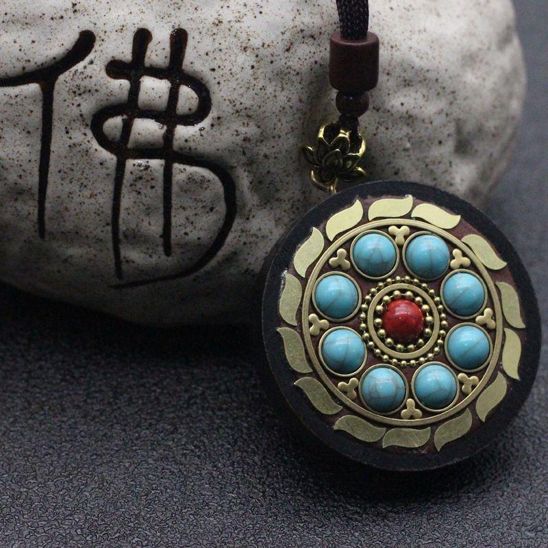pingente de colar de lençóis de algodão CfRQc Nepal colar de Buda estilo étnico pingente cadeia camisola cadeia ao vivo personalizado