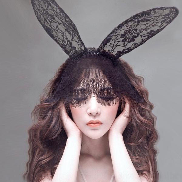 p93sf Sexy сексуального Underw единообразных аксессуаров искушения Hairband глаза маска ухо кролика волосы большого размер вуаль кружево белье кружево