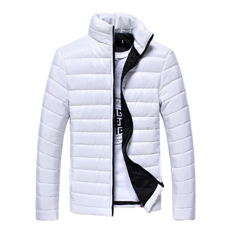 Wholesale- Men's Winter Down Coat 2016 New White Black Ultra Light Down Jacket For Mens Parka Cotton Down Coat Outwear Male Clothing 3XL 50