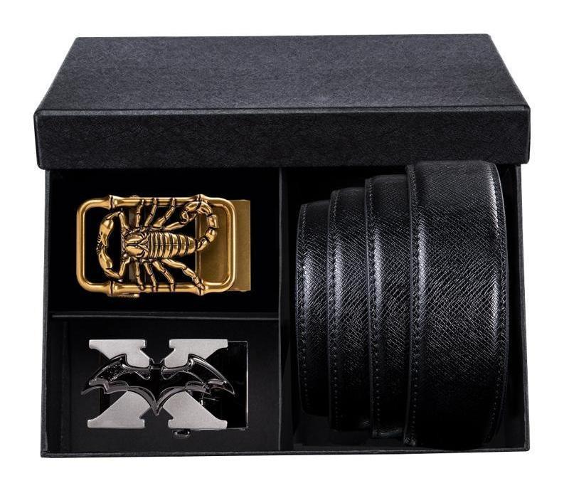 Luxe Mode Hommes récent de haute qualité Ceinture en cuir véritable Ceintures Boucle automatique causales Hommes d'affaires Bracelet Hommes Gift66
