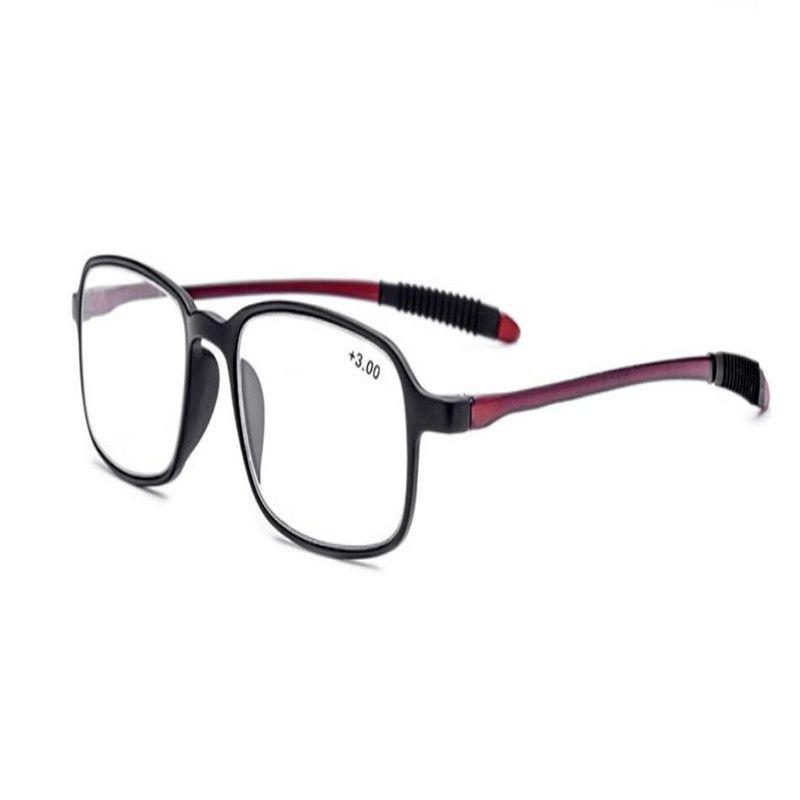 MONGOTEN Anti-fatigue Unisex Fashion Acetate Full Frame Ultralight Reading Rim Prescriptions Eyeglasses Presbyopia Eyewear Lens Ehngr