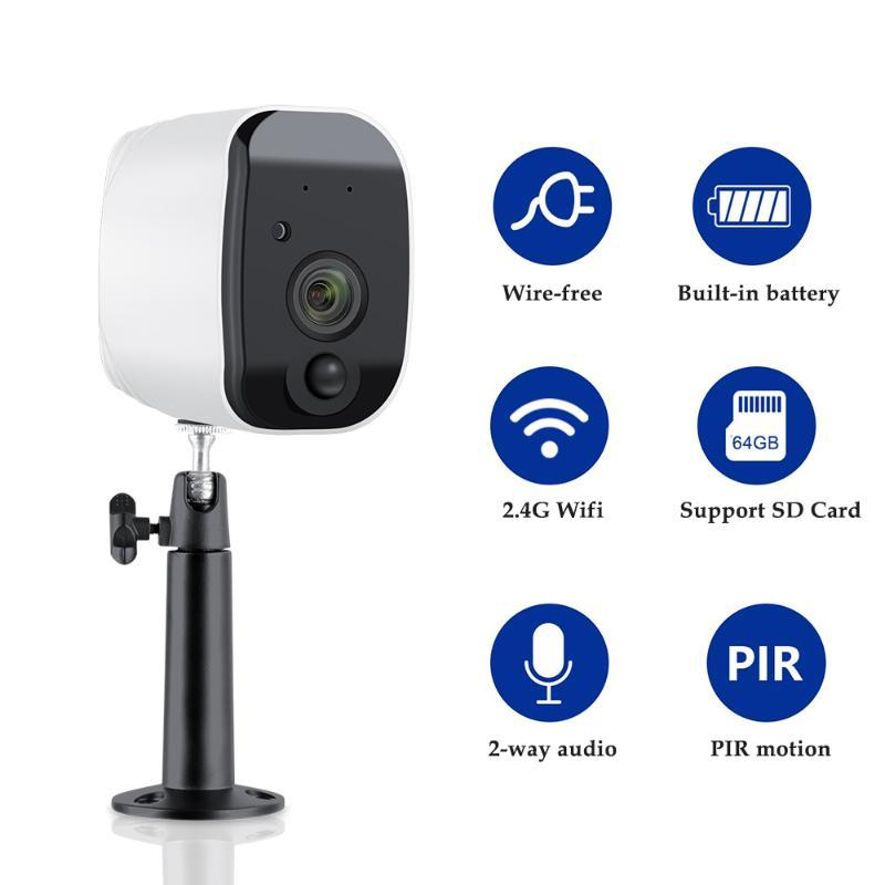 Wireless WiFi IP câmera 1080P Built-in bateria recarregável Outdoor Indoor Vigilância 2MP PIR Motion Detect App tosee