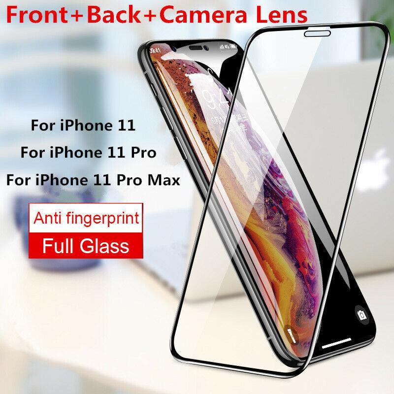 verre trempé pour iPhone 12 11 Pro Xs Max X XR 8 Samsung 9H PARFAITEMENT Protecteur d'écran colle avec le paquet de détail