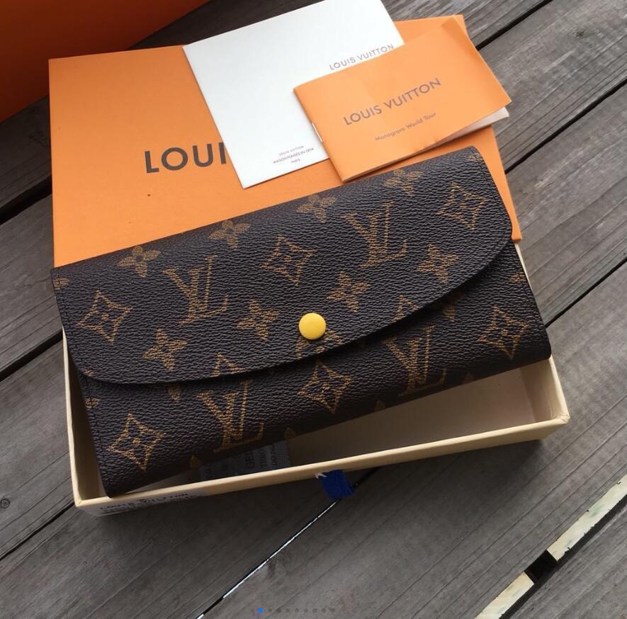 portefeuille unique concepteur portefeuille zippy des femmes de sacs à main designer sacs à main d'embrayage Portefeuilles en cuir porte-cartes porte-monnaie Emilie M60136 12color