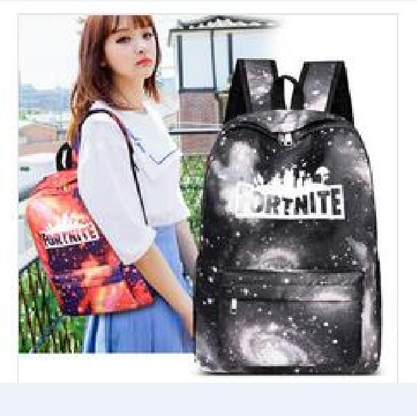 New Arrive Fortnite School Bags Shoulder Bag Custom Large-Volume Game School Bag Fashion Full Printing Personalized Student School Bag Free