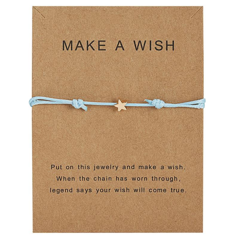 Gioielli della stella di fascino per le donne uomini bambini Lucky Red String Carta Amicizia Desideri Bracciale Amici regalo regolabile