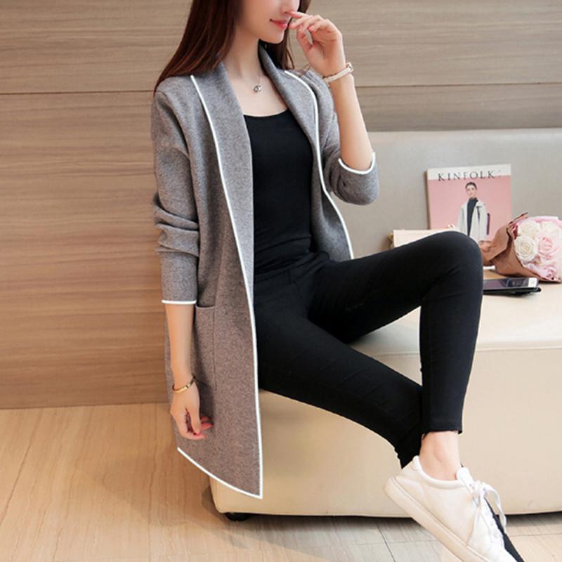 Capa de la ropa de las mujeres de la rebeca del suéter para la señora de gran tamaño Nueva manera del estilo tapas del otoño invierno suéteres de Corea
