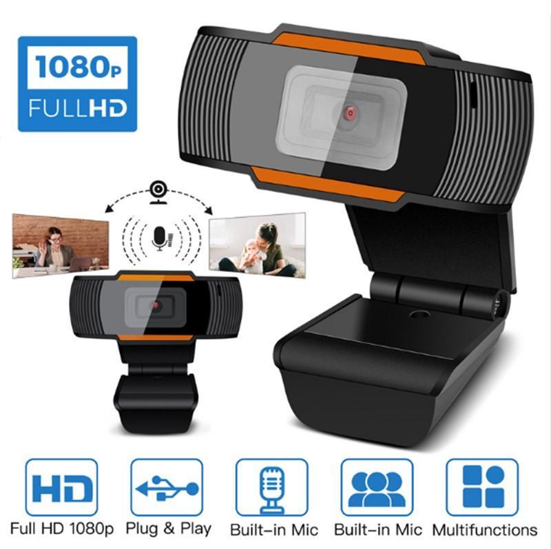 Web de la cámara 30fps HD Webcam Cámara 1080P 720P 480P integrados en el PC acústicos absorbentes del sonido del micrófono del ordenador portátil PC Grabación de vídeo para la computadora A870 caja al por menor