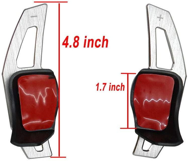 2Pcs Aluminum alloy Car Steering Wheel Shift Paddle Shifter Extension for - 6 Golf7 GTE MK6 R20 R36 Passat Scirocco Golf5/R32