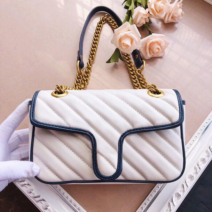 Tote High Quality Luxury Shoulder Purse Leather Marmont Handbags Crossbody Genuine Hot Bags Gccis Clutch Handbag Messenger Shopping Des Nnmg