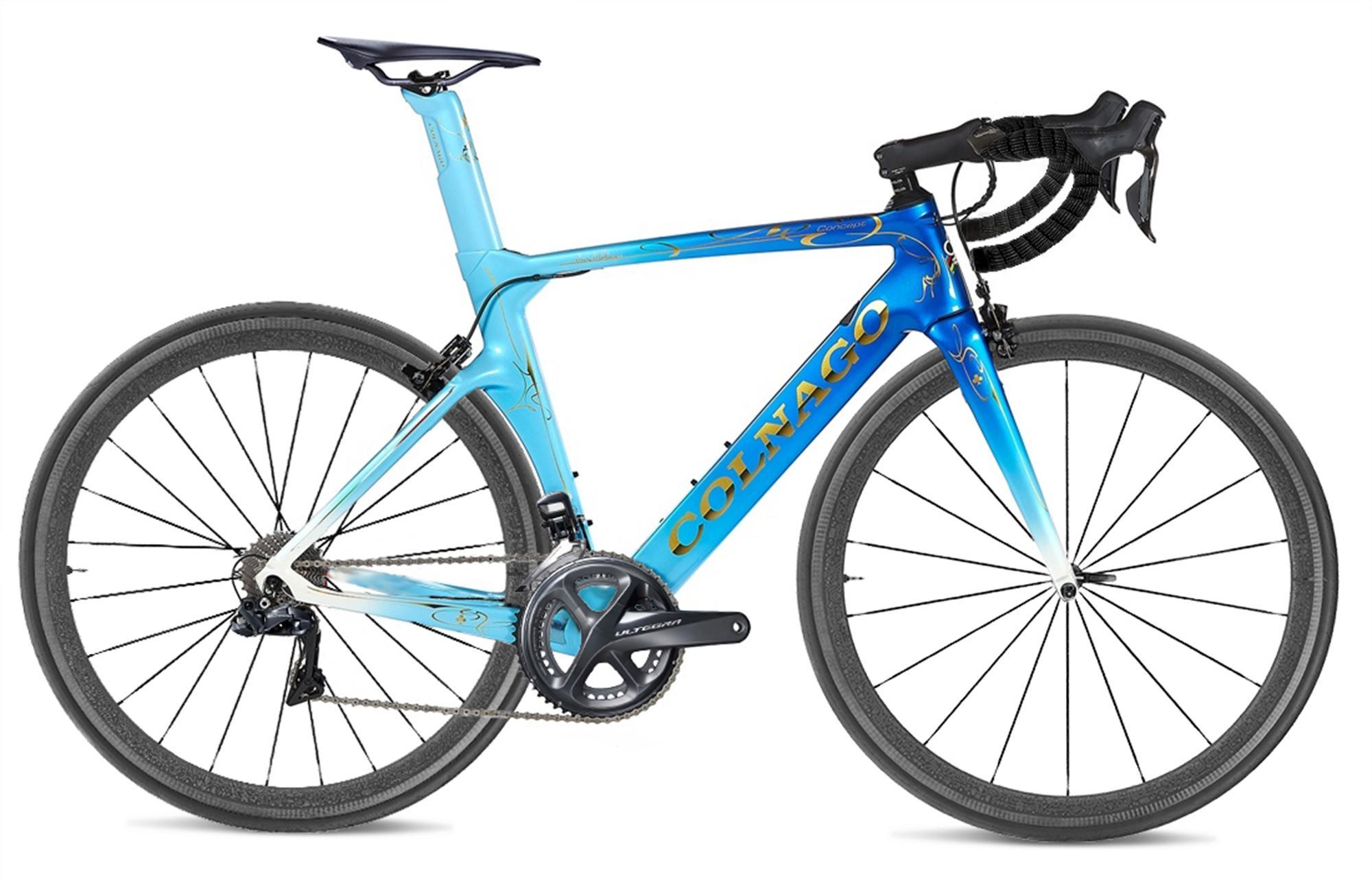 Colnago Concept CHDB Bleu Plein Carbon Road Complete Vélo Bicyclette avec Ultegra R8010 GROUPSET À VENDRE