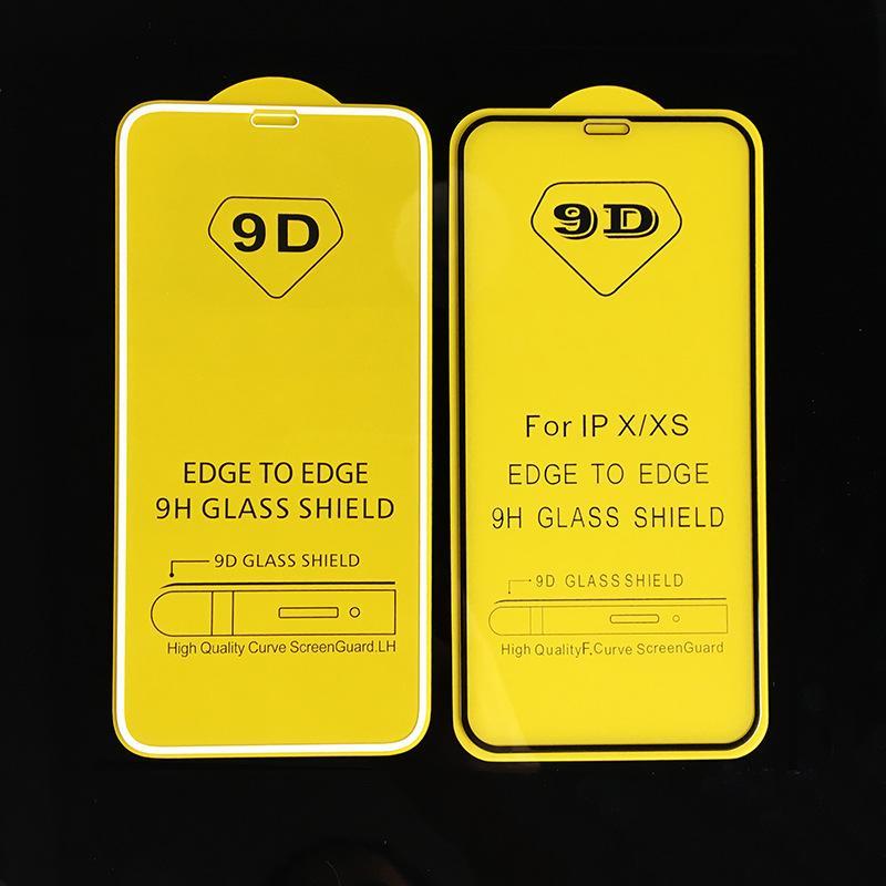 9D الزجاج المقسى كاملة شاشة حامي لمدة 12 فون برو ماكس 7 8 PLUS سامسونج A91 A50S J7 Redmi ملاحظة 8T ملاحظة 8 برو دون صندوق